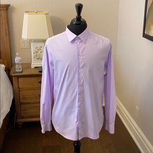 EMPORIO ARMANI light pink dress shirt.